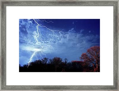 Forked Lightning Framed Print