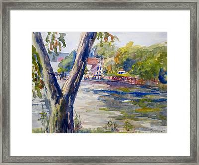 Forked Tree Framed Print by Joyce Kanyuk