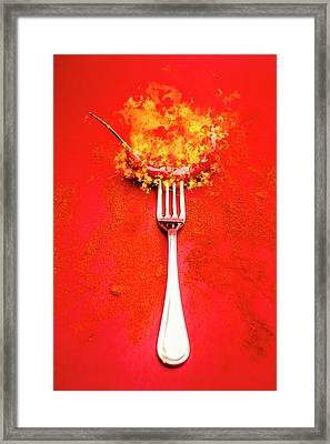 Forking Hot Food Framed Print by Jorgo Photography - Wall Art Gallery