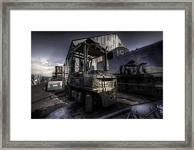 Forklift Framed Print