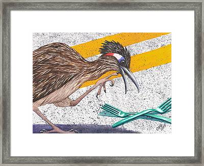 Forks In The Road Framed Print by Catherine G McElroy