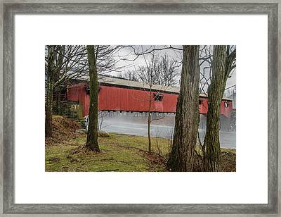 Forksville Covered Bridge Framed Print by Jim Cook