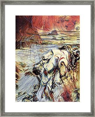 Forlorn Driftwood Framed Print