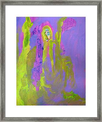 Forlorn In Purple And Yellow Framed Print