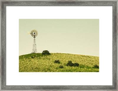 Forlorn Windmill Framed Print