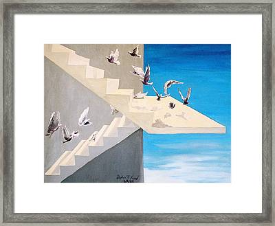 Framed Print featuring the painting Form Without Function by Steve Karol