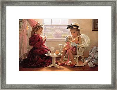 Framed Print featuring the painting Formal Luncheon by Greg Olsen