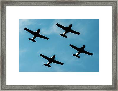 Formation Marchetti In A Little Air Show  Framed Print by Roberto Chiartano