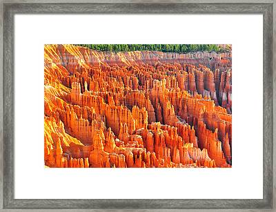 Formations At Bryce Canyon Ampitheater Framed Print by Jay Mudaliar
