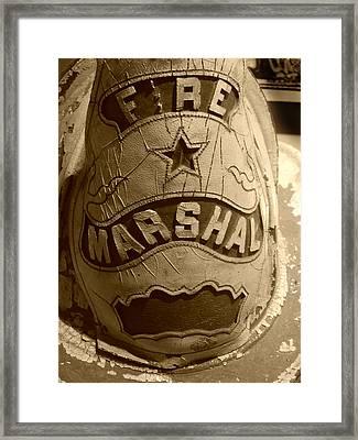 Former Fire Marshal Hat Framed Print
