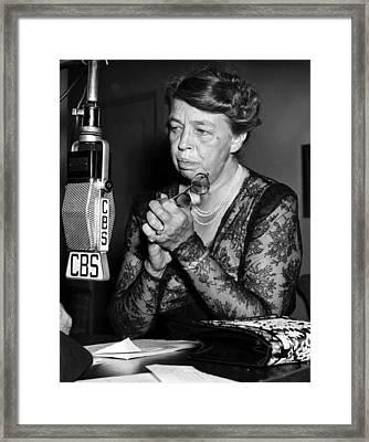 Former First Lady Eleanor Roosevelt Framed Print