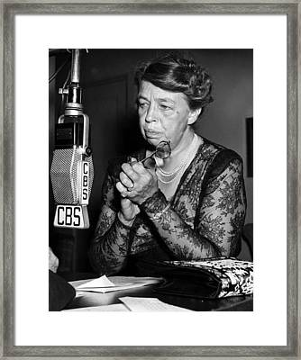 Former First Lady Eleanor Roosevelt Framed Print by Everett