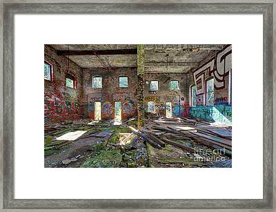 Framed Print featuring the photograph Former Hartford Woolen Mill Newport New Hampshire by Edward Fielding