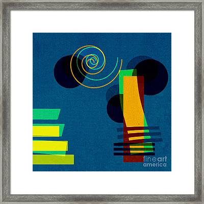 Framed Print featuring the digital art Formes - 03b by Variance Collections