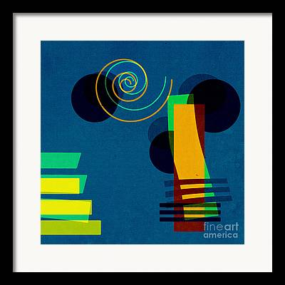 Blue Abstract Digital Art Framed Prints