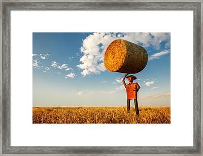 Formidable Farmer Framed Print