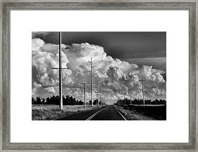 Forms Of Energy Framed Print by Karen Scovill