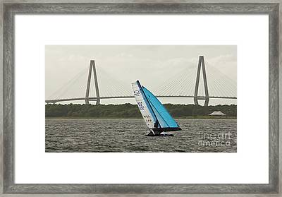 Formula 18 Sailing Cat Big Booty Charleston Sc Framed Print by Dustin K Ryan