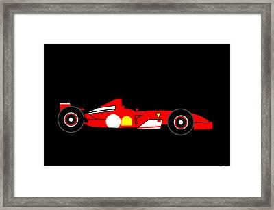 Formula One Ferrari Framed Print by Asbjorn Lonvig