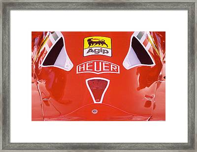 Formula Red Framed Print