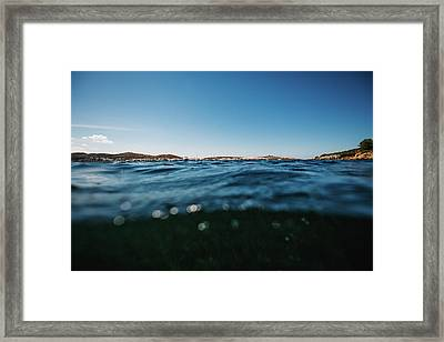 Fornells Bay Framed Print