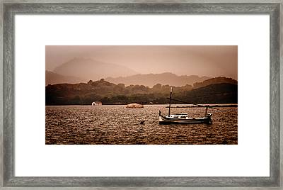 Fornells Bay In Menorca Island - Even Most Beautiful Places Have Secrets To Hide By Pedro Cardona Framed Print