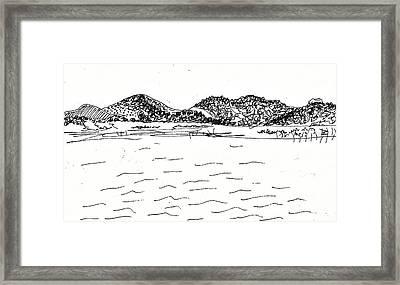 Fornes Embalse De Los Bermejales Framed Print