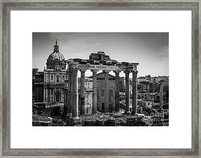 Foro Romano, Rome Italy Framed Print