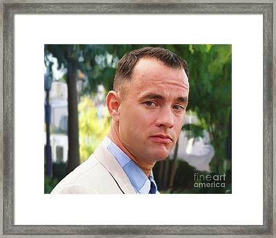 Forrest Gump Framed Print by Paul Tagliamonte
