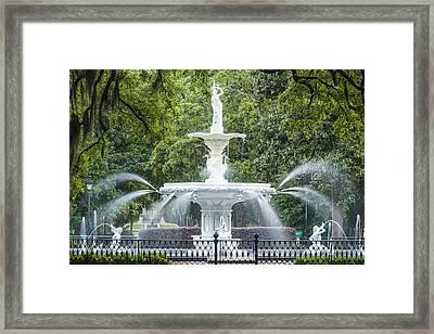 Forsyth Fountain Framed Print
