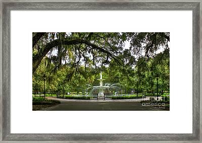 Forsyth Park Fountain Historic Savannah Georgia Framed Print