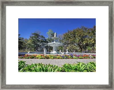 Forsyth Park Fountain  Framed Print by Joan McCool