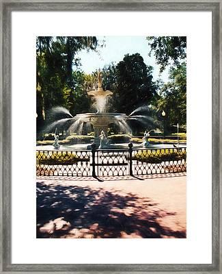 Forsyth Park Fountain - Savannah - Ga Framed Print