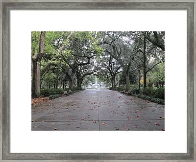 Forsyth Park In The Fall Framed Print