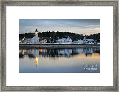 Fort Baldwin Winter Evening Framed Print