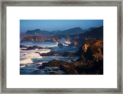 Fort Bragg Coastline Framed Print