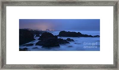 Fort Bragg Long Exposure Seascape I Framed Print