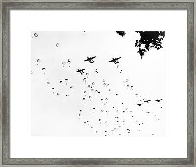 Fort Bragg Paratroopers Framed Print by Underwood Archives