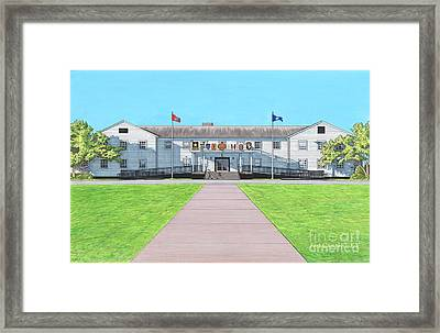 Fort Campbell Garrison Headquarters Framed Print by T Franz