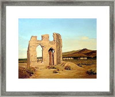 Fort Churchill Nevada Framed Print by Evelyne Boynton Grierson