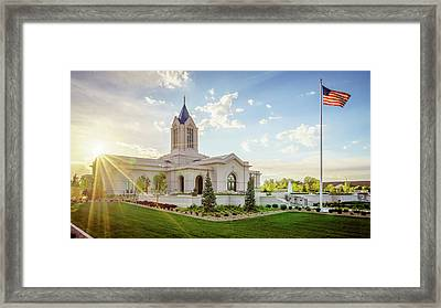 Fort Collins Temple Framed Print by Bruce Tracy