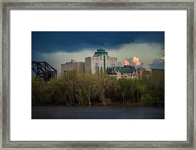 Fort Garry Hotel/fort Garry Place Framed Print by Bryan Scott