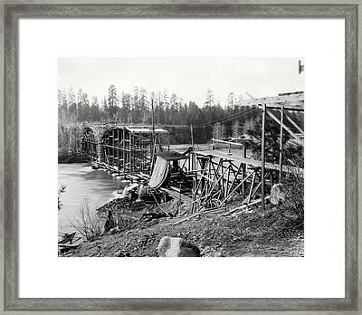 Fort George Wright Bridge - Spokane 1927 Framed Print