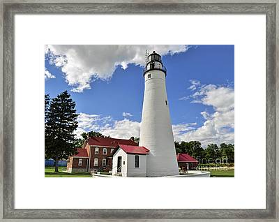 Fort Gratiot Light Framed Print