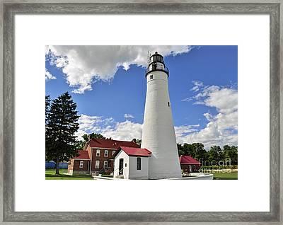 Fort Gratiot Light Framed Print by Rodney Campbell