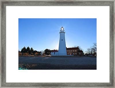 Fort Gratiot Lighthouse Framed Print by Michael Rucker