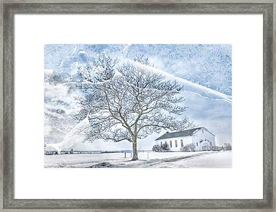 Fort Hancock Chapel Framed Print by Geraldine Scull