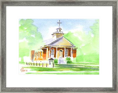 Framed Print featuring the painting Fort Hill Methodist Church 2 by Kip DeVore
