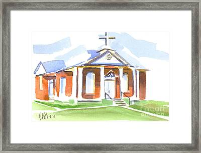 Framed Print featuring the painting Fort Hill Methodist Church by Kip DeVore