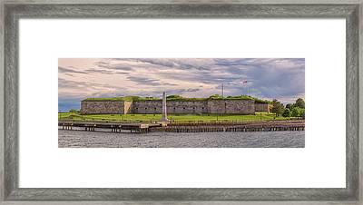 Fort Independence At Castle Island Framed Print
